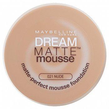 موس میبلین مدل Dream Matte Mousseبا SPF15 حجم 18 میل شماره 21 – بژ طلایی