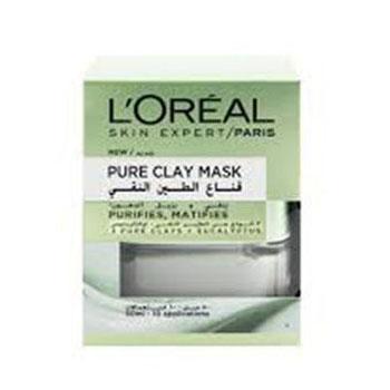 ماسک خاک رس پاک کننده عمیق پوست لورال پاریس مدل Pure Clay حجم 50 میل