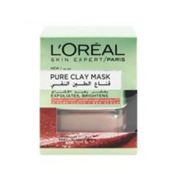 ماسک خاک رس لطافت بخش پوست لورال پاریس مدل Pure Clay حجم 50 میل