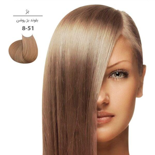 رنگ موی مارال ۱۰۰ میل سری بژ