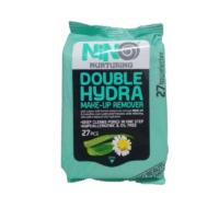 دستمال مرطوب پاک کننده آرایش آبرسان نینو مدل دابل هیدرا جیبی | 27 عددی