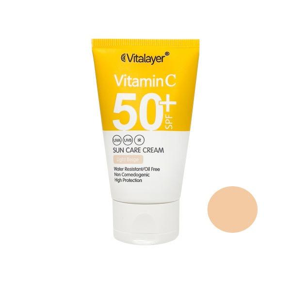 کرم ضد آفتاب بژ روشن ویتالایر SPF50